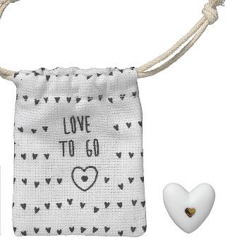 Lyckoamulett i porslin - Love to go