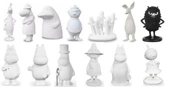 Mumin Figuriner - Polystone - Paketpris 13-Pack