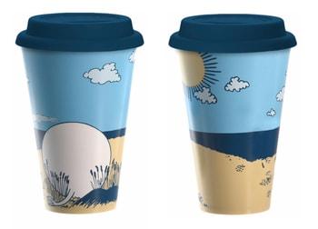 Moomin Take Away mug - Moomintroll´s Beach Day