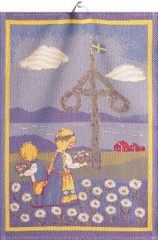 Kökshandduk - Svensk sommar (Ekelund Linneväveri)