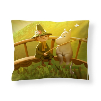 Moomin Pillow Case - Satin - Moomin Valley - Spring (Finlayson)