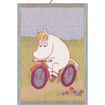 Moomin kitchen towel - Bike Path