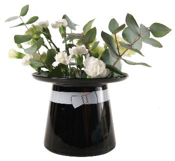 Moomin Vase, Moominpappa's Hat (Black)