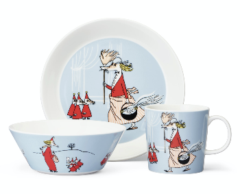 Package Price - Arabia - Moomin - Fillyjonk - Mug, plate + bowl