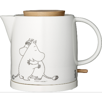Moomin Kettle - Moomintroll & Snorkmaiden - White (Ceramic)