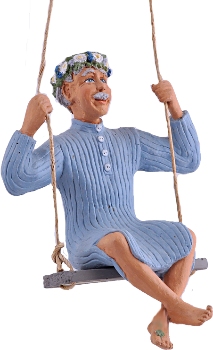 Karl-Anton i gungan - Figurin -  Erkers Marie Persson