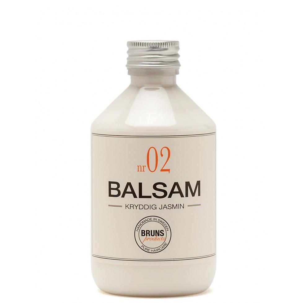 Bruns Products Balsam 02 Kryddig Jasmine 330ml - För torrt & extra torrt hår samt balsammetoden