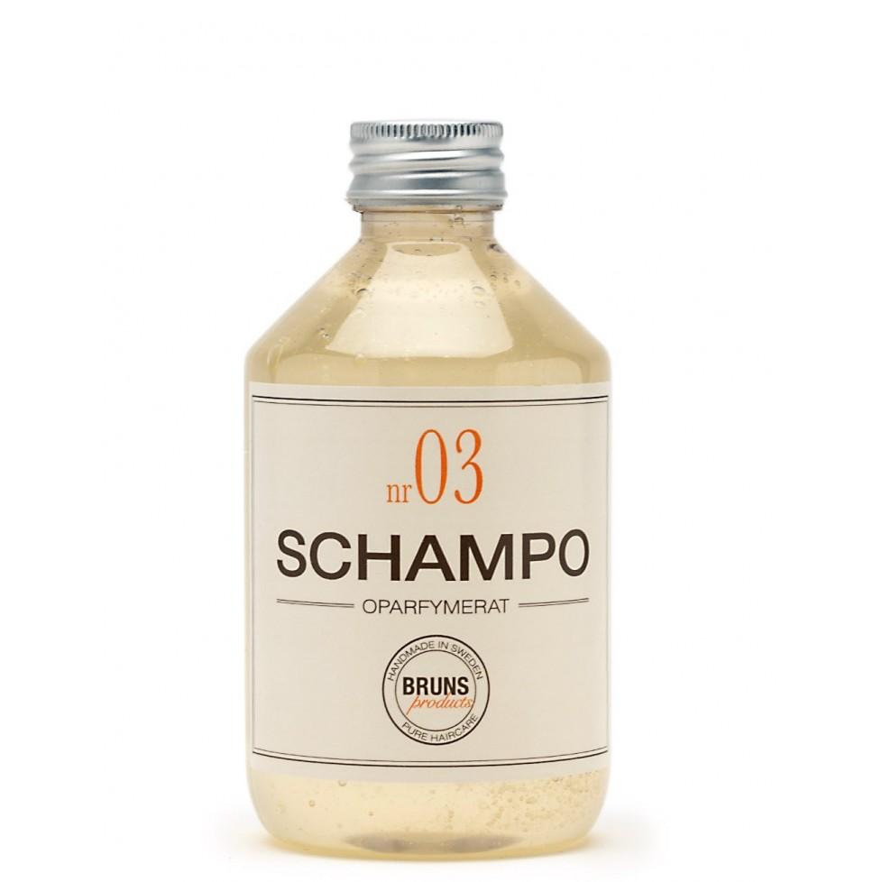 Bruns Products Schampo 03 Oparfymerat 330ml - För alla hårtyper & irriterad/känslig hårbotten