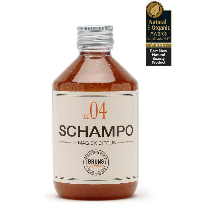 Bruns Products Schampo 04 Magisk Citrus 330ml - För normalt till fint hår, Även som detox