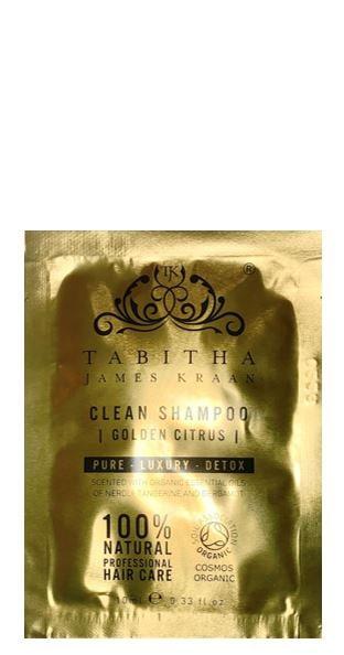 Tabitha James Kraan SACHET Clean Shampoo Golden Citrus