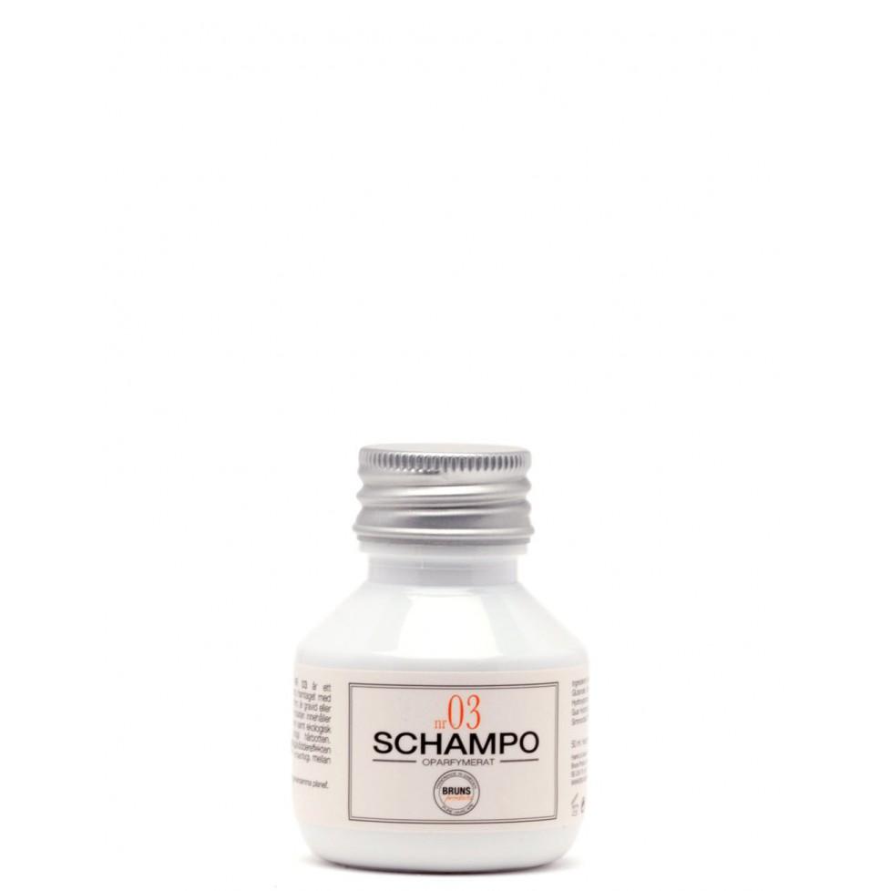 Bruns Products Schampo 03 Oparfymerat 100ml - För alla hårtyper & irriterad/känslig hårbotten