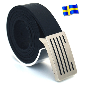 Läderbälte Bull svart 30mm 850-SP13