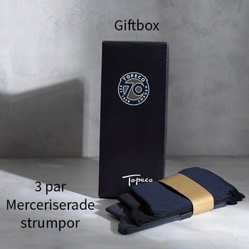 Giftbox 3-pack herrstrumpor i merceriserad bomull