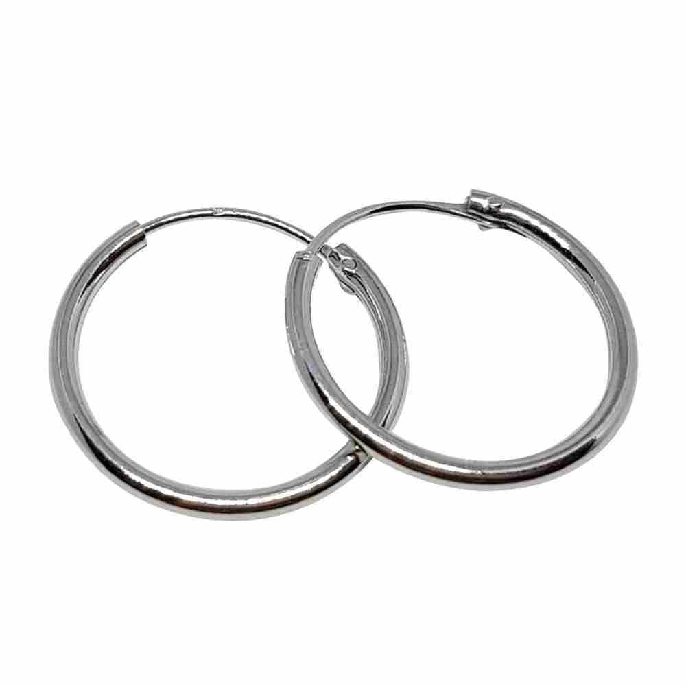 Örhänge 18 mm äkta silverringar - creoler