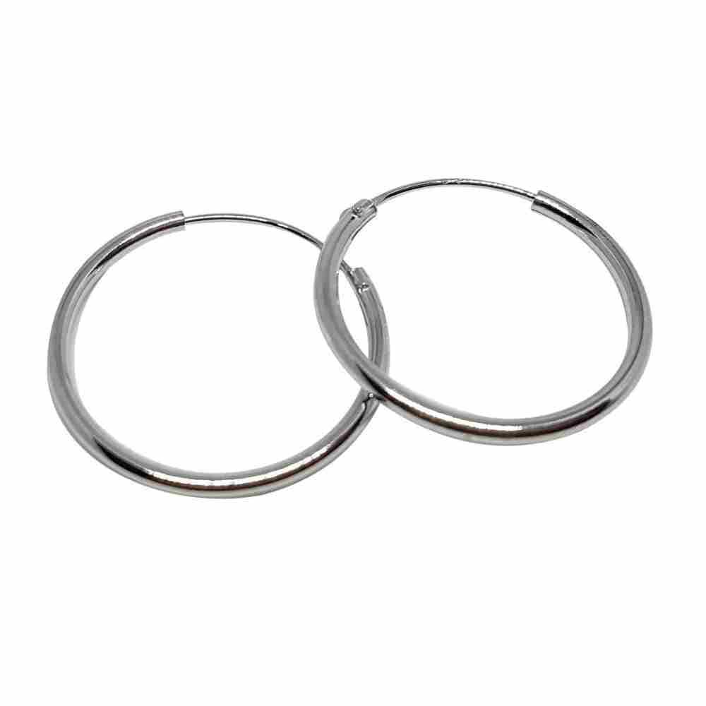 Örhänge 20 mm äkta silverringar - creoler