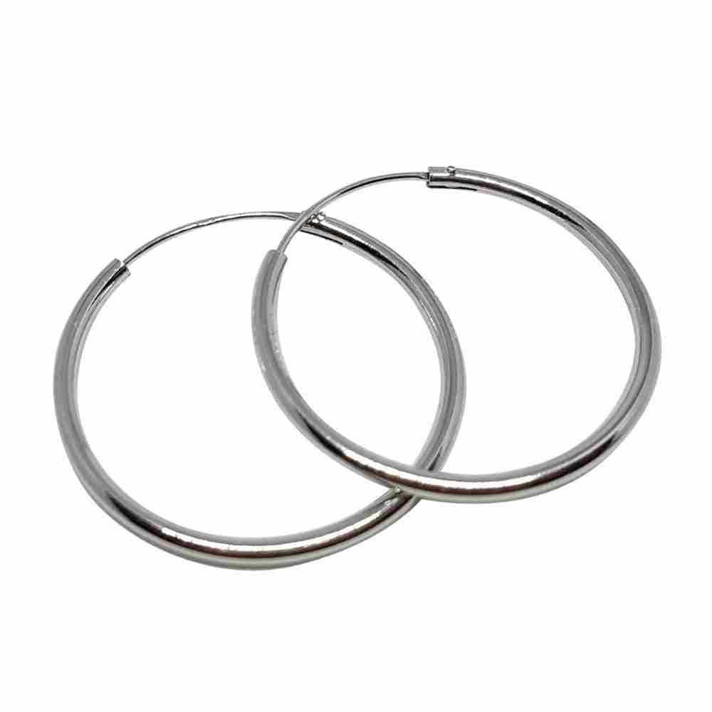 Örhänge 30 mm äkta silverringar - creoler