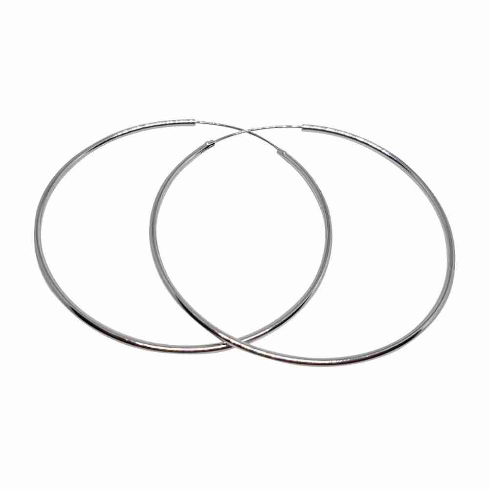 Örhänge 60 mm äkta silverringar - creoler