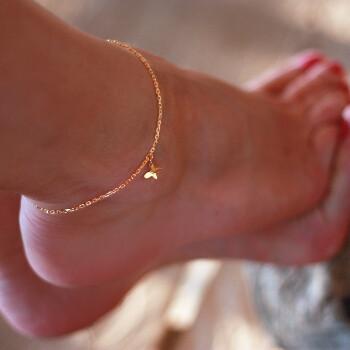Fotlänkar i äkta hög kvalitet som tål vatten - Fotlänk fjäril i guld på stål - allergivänligt och nickelfritt | C Stockholm smycken vristlänkar och fotsmycken - guldkedja ankelkedja