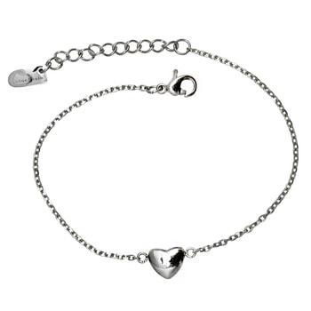 Fotlänkar i äkta hög kvalitet som tål vatten - Fotlänk hjärta i Silver / stål  - allergivänligt och nickelfritt | C Stockholm smycken vristlänkar och fotsmycken