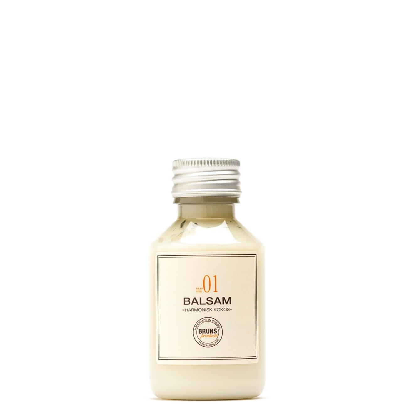 Bruns Products Balsam 01 Harmonisk Kokos 100ml - För torrt, normalt & tjockt hår samt balsammetoden