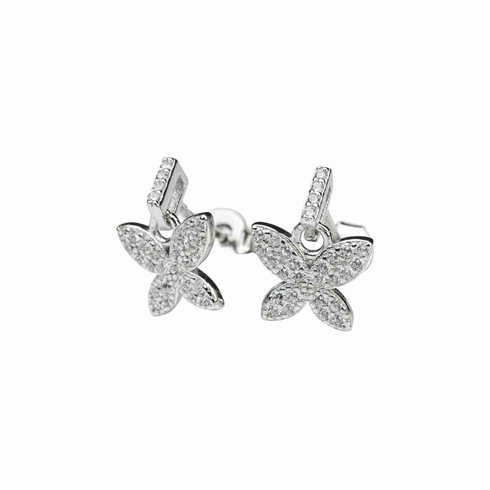 Örhänge äkta silver - fjäril