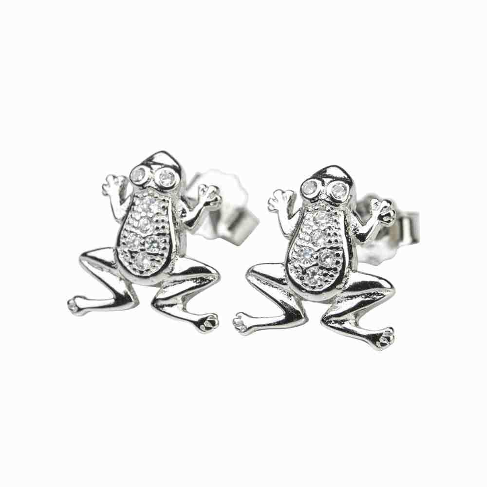 Örhänge äkta silver - grodor