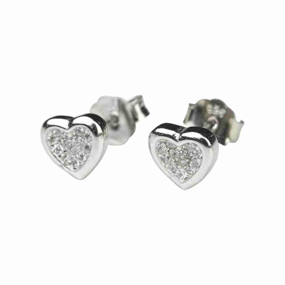 Örhänge äkta silver - solid hjärta