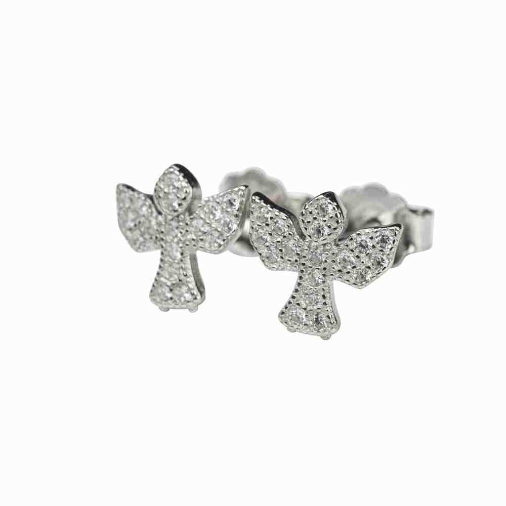 Örhänge i äkta silver -glittrig ängel