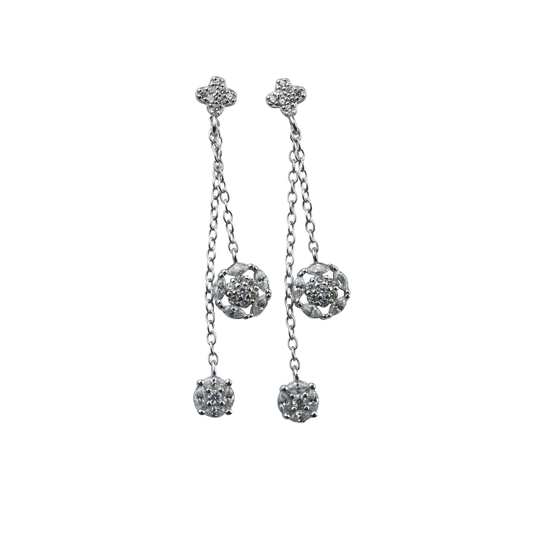Örhänge i äkta silver - vackert hänge