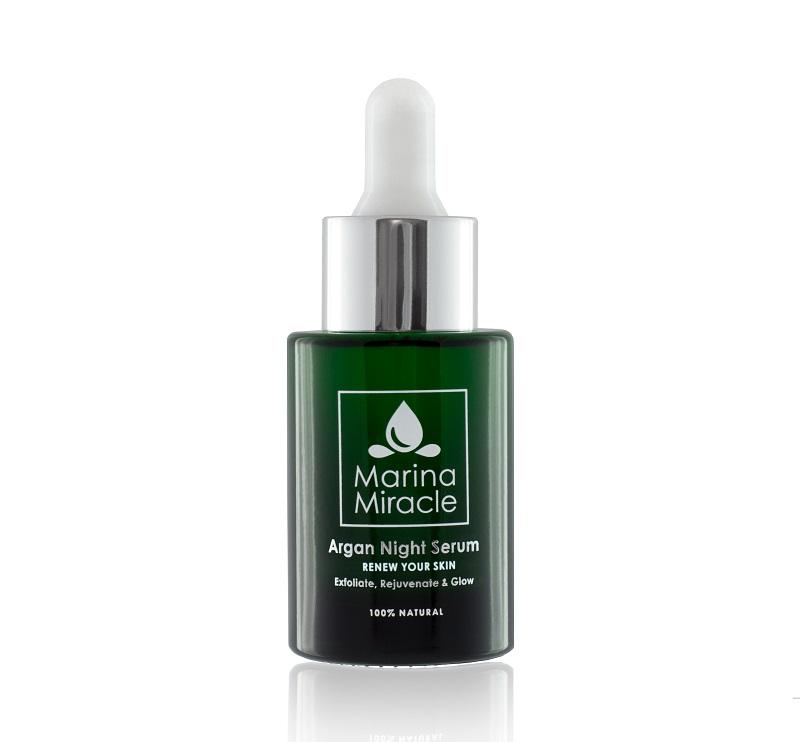 Marina Miracle Argan Night Serum 30ml - Nattserum AHA-syra
