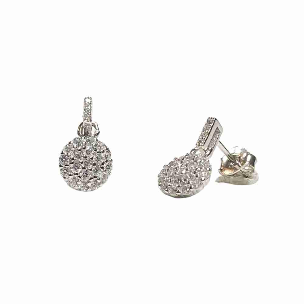 Silverörhängen - kristallörhänge-äkta silver