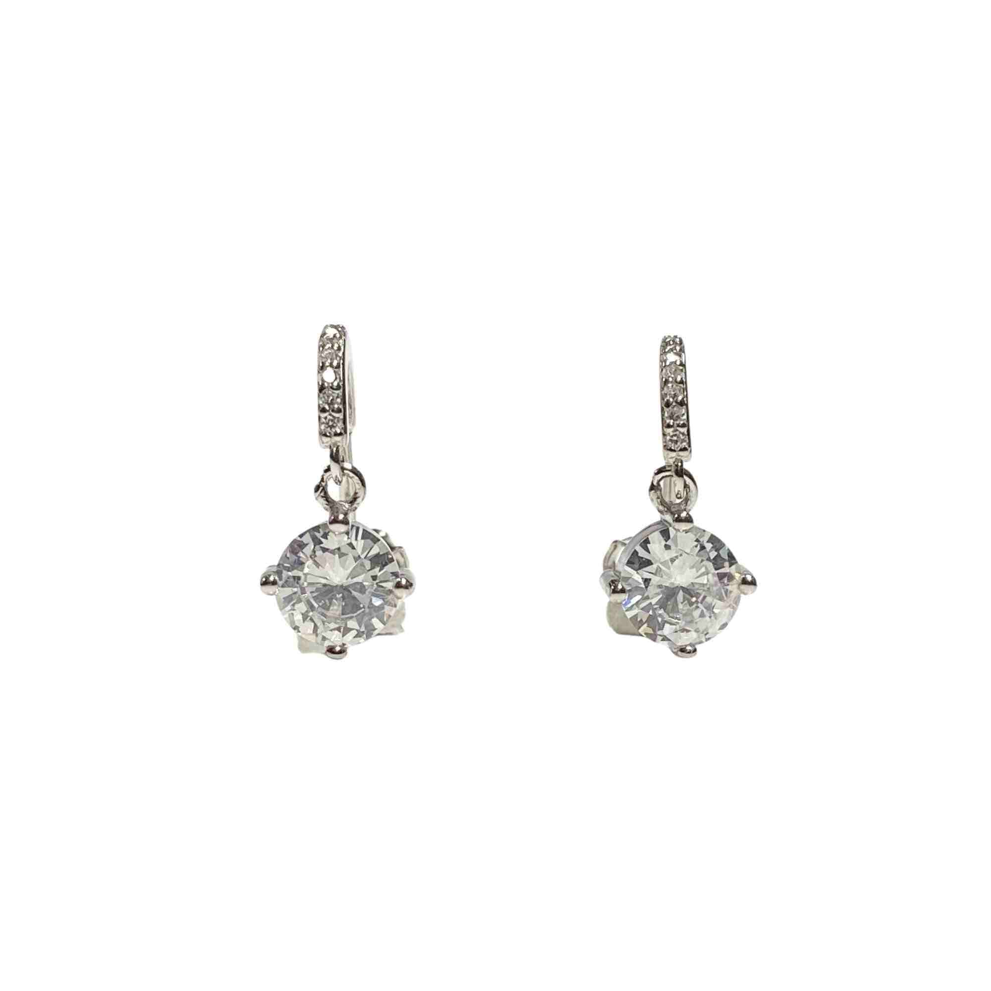 Örhänge i äkta silver med kristaller