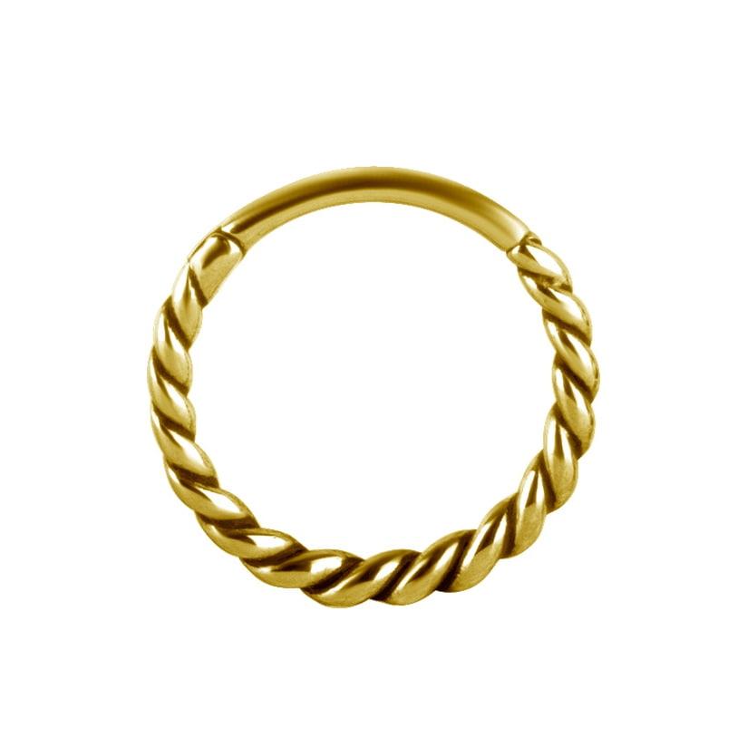 Clicker - twistad clicker - 24K guld PVD