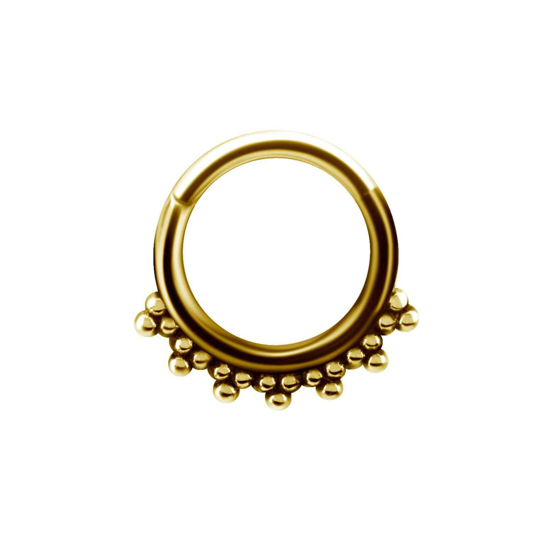Clicker - piercingring - 24K guld PVD