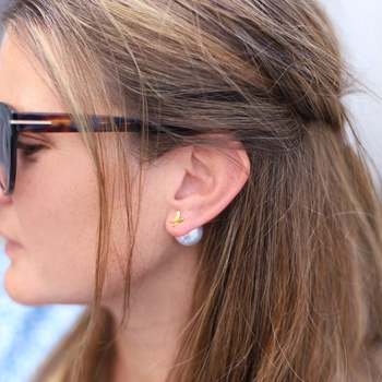 Bak-pluppar till örhängen, Pärla 15mm