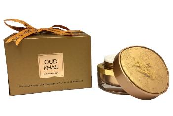 Oud Khas parfymerad body cream 50g