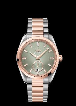 Omega Seamaster Aqua Terra 150M Co‑Axial Master Chronometer Small Seconds 38 mm Grön Stål och 18 K Sedna™guld