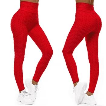 Röda sportiga leggings