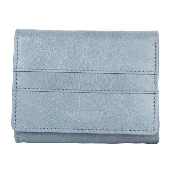 The Monte Klassisk Plånbok Liten i Skinn Jeansblå