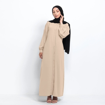 Medina Kimono abaya med knappar - Beige