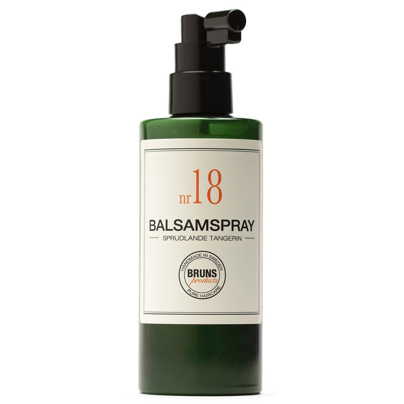 Bruns Products Balsamspray 18 Sprudlande tangerin 200ml - För torrt, skadat, normalt & lockigt hår