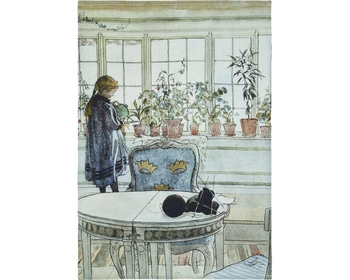 "Kökshandduk - Carl Larsson ""Blomsterfönstret"" 50x70 cm"