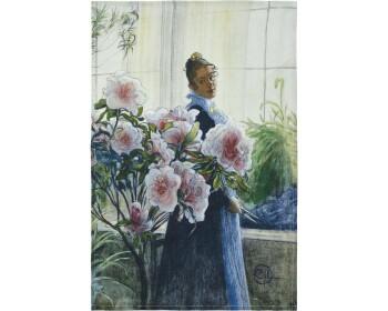 "Kökshandduk - Carl Larsson ""Azalea"" 50x70 cm"