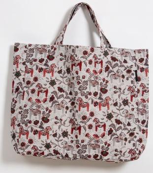 Fabric bag model Leksand mini jacquard 42x40 cm