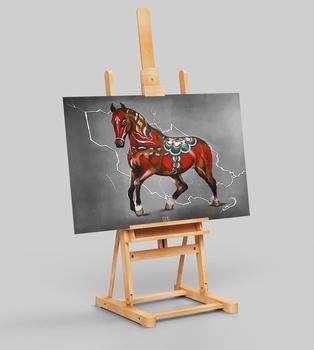 Canvas print Dala horse Dala background