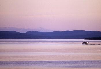 Canvas print - Lake Siljan with the steamer Gustaf Wasa