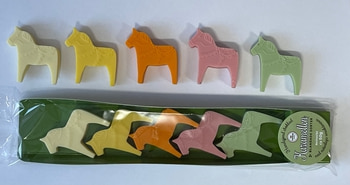 Chocolate - 5 pieces Dala horses