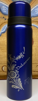 Thermos with personal engraving including tea and honey
