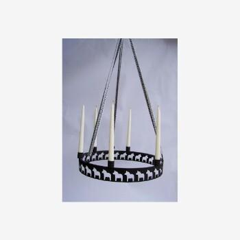 Ljuskrona med dalahästar - Sex kronljus