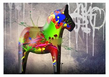 """Canvas print - Dala horse """"Graffiti"""""""